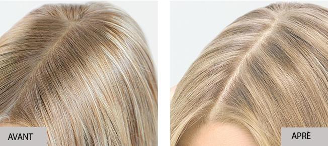 Prolongation des mèches avec Insta Recharge, avant et après