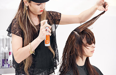Wella TrendVision Distilled Enlightened Brunette styling