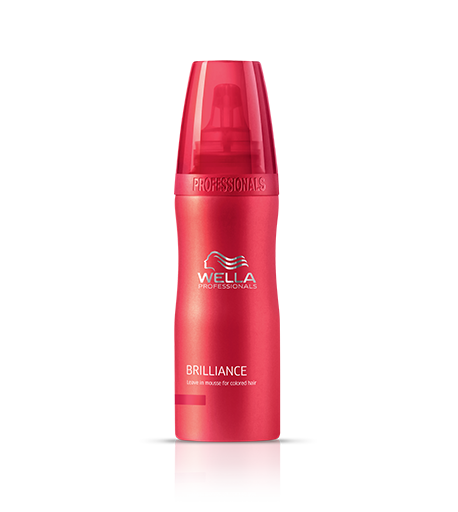 Wella Brilliance leave-in mousse for colored hair