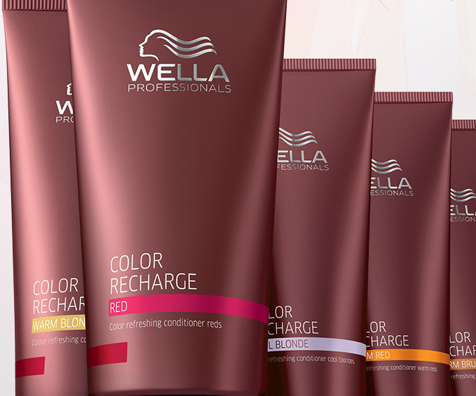 Color recharge coloured hair care wella professionals - Wella salon professional hair products ...