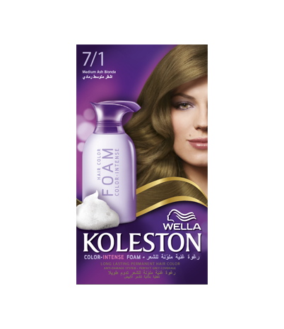 KOLESTON FOAM MEDIUM ASH BLONDE 7/1