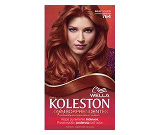 Carta de colores de pelo rojos