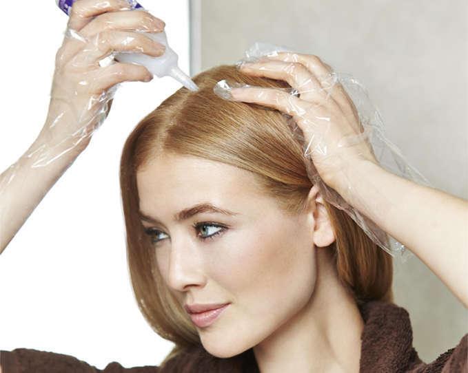 волосы красить сухие или мокрые