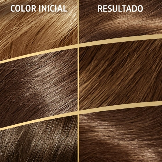 Color de cabello rubio oscuro marron intenso