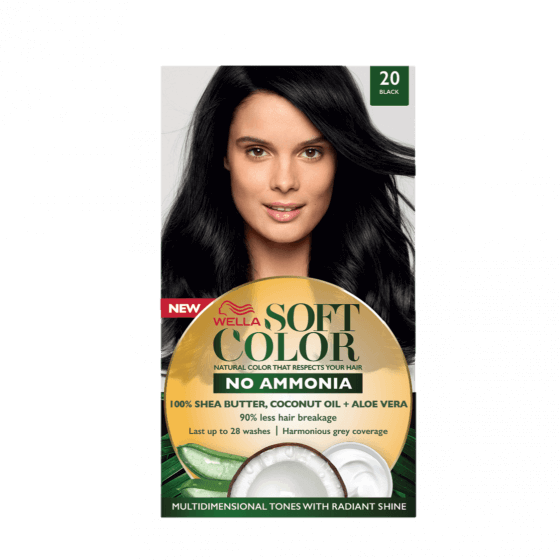 Soft Color Natural Hair Color Without Ammonia And With 100 Natural Ingredients Black Wella