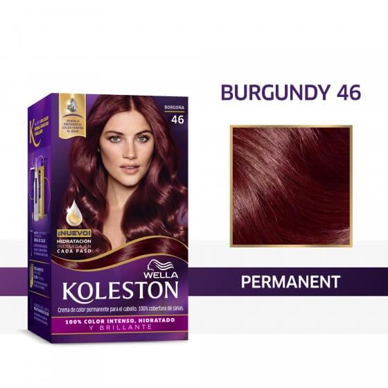 Wella Koleston Permanent Hair Color Cream With Water Protection Factor Burgundy 46 Wella