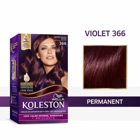 Wella Koleston Permanent Hair Color Cream With Water Protection Factor Violet 366 Wella