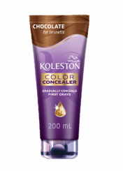 Color Concealer Chocolate for brunette with argan, coconut and macadamia oils conditioner 200 ml