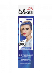 One Wash-Away Color Gel Blue Sapphire