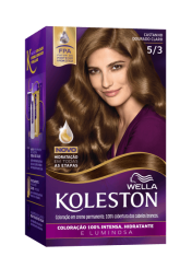 Permanent Hair Color Cream Light Golden Brown 53